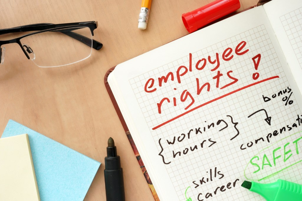 Employee-rights-notepad
