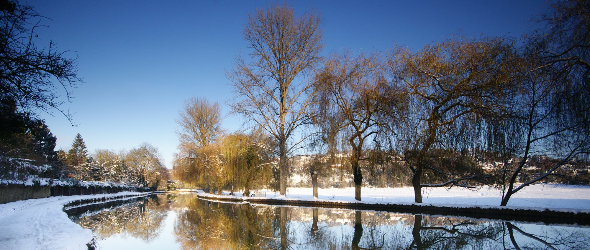 River Wey in the Snow
