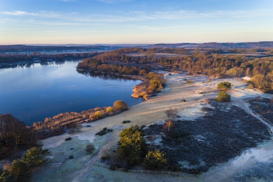 A frosty Frensham Great Pond