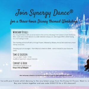 Disney Workshop (3 - 8 years) Sing, Dance and Act.